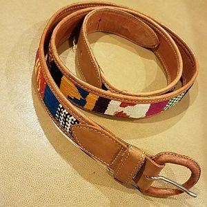 Accessories - Cotton & Leather Handmade Boho Belt
